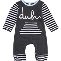 2016 new Spring autumn fashion Newborn Baby Girls Boys Cotton Romper infant Body Suit letter Long Sleeve Striped Clothes