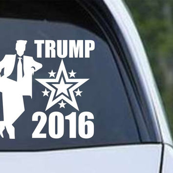 Donald Trump 2016 Standing Stars Die Cut Vinyl Decal Sticker