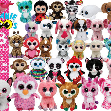 Beanie Boo's Clipart transparent background  png format files