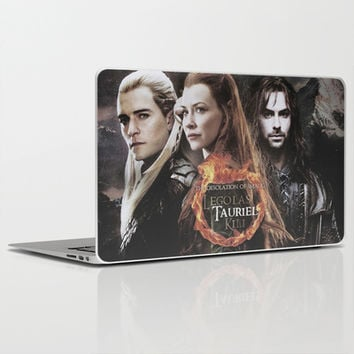 kili,legolas,tauriel,the hobbit,lord of the rings Laptop & iPad Skin by Ira Gora