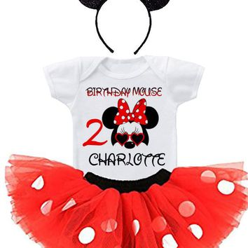 MINNIE MOUSE 2ND BIRTHDAY TUTU OUTFIT,