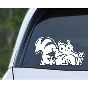 Squirrel Cartoon (ver d) Die Cut Vinyl Decal Sticker