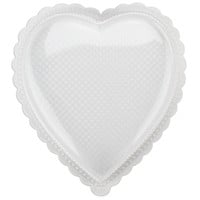 White Scallop Heart Candy Boxes