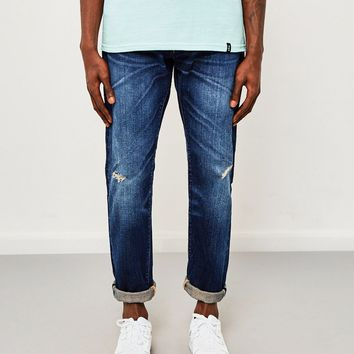 Edwin ED-55, Regular Tapered, 63 Rainbow Contrast Selvedge Jeans, Dark Wash