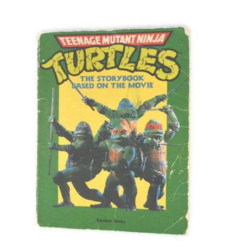 Vintage 1990 Teenage Mutant Ninja Turtles The Storybook Based On The Movie, Vintage TMNT Collectors Book