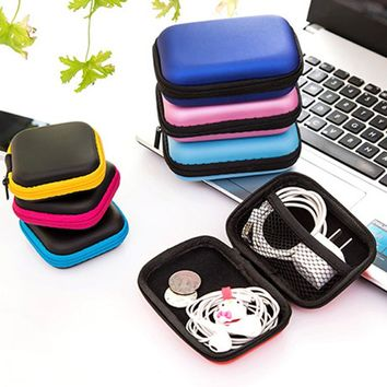 EVA Earphone Wire Storage Box Organizer Data Line Cables Storage Container Case Earbuds Case Container Cable Earbuds Storage Box