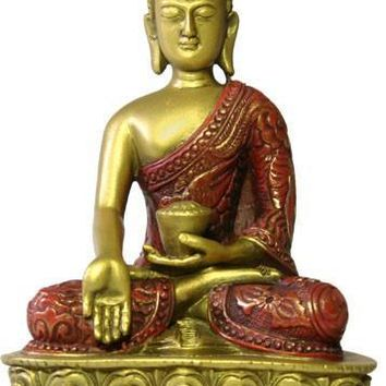 Buddha Nepali Style in Wish Giving Pose Desktop Statue 5.5H