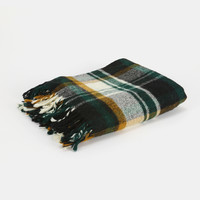 Vintage Troy Mills Tartan Plaid Wool Blanket