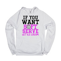 If you want soft serve get Ice Cream Volleyball Hoodie Sweatshirt