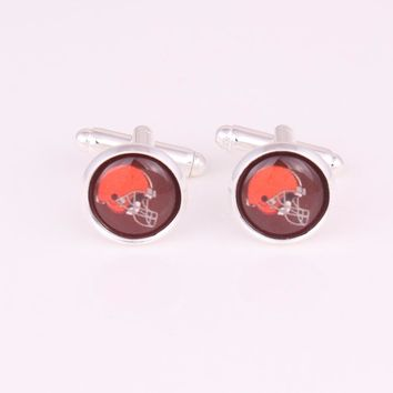 Cleveland Browns Baltimore Ravens Detroit Lions Philadelphia Eagles  Arizona Cardinals  Colts Football Cufflinks cuff links