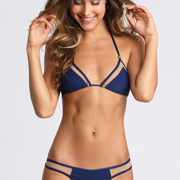 *ISHINE365 EXCLUSIVE* 2015 Kai Lani Swimwear Mesh Top in Navy