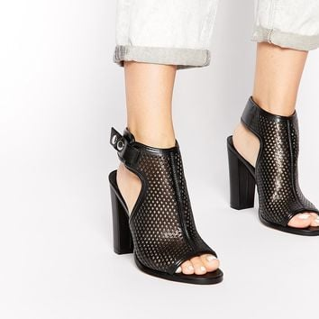 ALDO Aelalla Black Perforated Heeled Shoe Boots