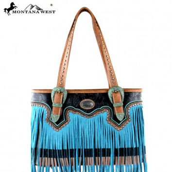 Montana West Fringe Purse MW335-8014