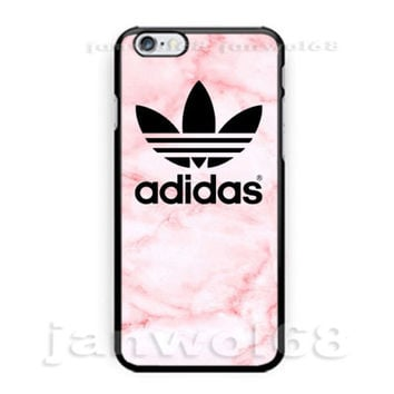 Awesome Adidas Pink Marble Logo For all iPhone Print On Hard Plastic Case