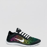 Nike Lace Up Running Sneakers - Women's Free 3.0 V5