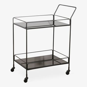 Reflect Bar Cart Charcoal – ABC Carpet & Home
