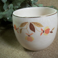 Superior Hall Autumn Leaf Bowl or Cup Mary Dunbar Vintage 1950's Collectible Tableware Serving Dish Decorative Pottery