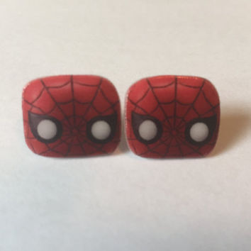 Handmade Plastic Fandom Earrings - Comic Book - Spiderman