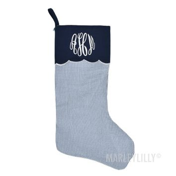 Monogrammed Christmas Stockings | Marleylilly