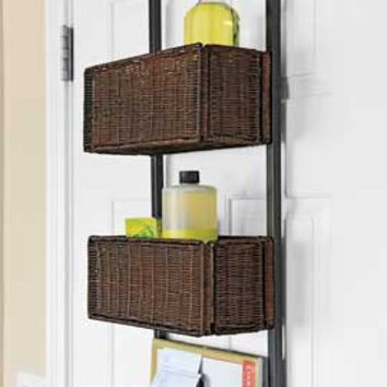 Over the Door Storage Rack Wicker Basket Door Rack | Solutions & Over the Door Storage Rack Wicker Basket from Solutions | 43