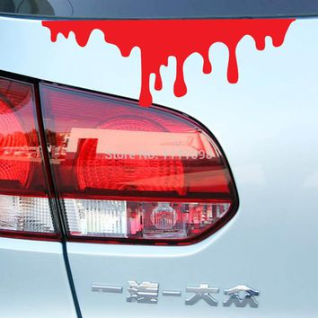 10 x Bleeding Funny Car Sticker Auto Decal Car Accessories Sticker for Tesla ToyotaChevrolet Volkswagen Hyundai Kia Lada
