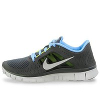 Amazon.com: Nike Free Run + 3 Womens Gray Blue Running Sneaker: Shoes