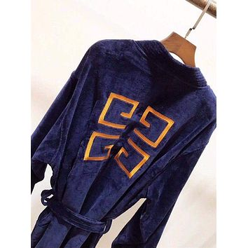 Givenchy Embroidery Logo Bathrobe