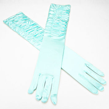 Over The Elbow Gloves Aqua