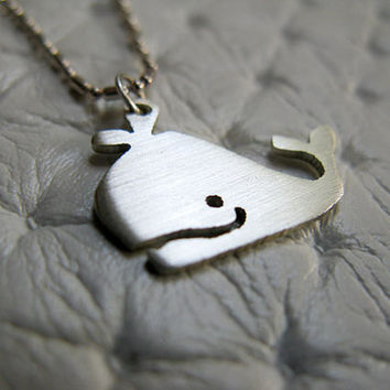 Whale Necklace - Sterling Silver