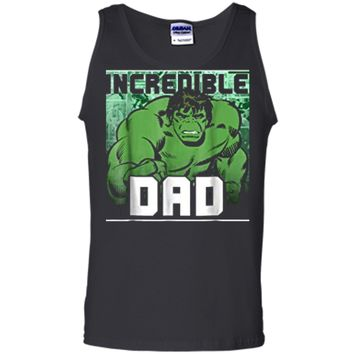 Marvel Hulk Father's Day Incredible Dad Graphic  Tank Top