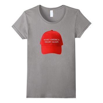 Make America Smart Again on Red Hat T-Shirt