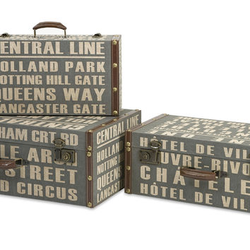 Central Line Suitcases - Set of 3