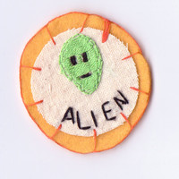 Orange Alien Patch