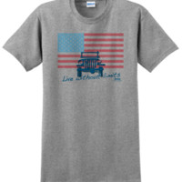 "Jeep ""American Flag / Live without Limits"" Men's Grey T-Shirt"