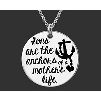 Sons Are the Anchors Necklace