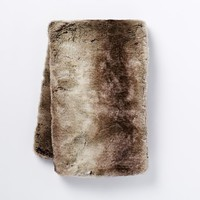 Faux Fur Ombre Throw, Mocha