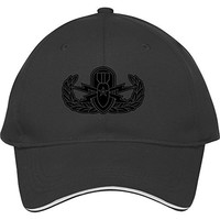 Cool Male/female Snapback Adjustable Baseball Cap Hat Senior Eod Stencil Black Cotton
