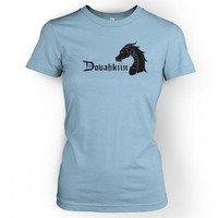 Something Geeky PP - Women's Dovahkiin T-shirt- Inspired By Skyrim