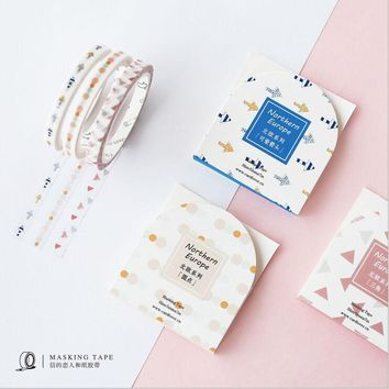 Northern Europe Slim Tape Cute Arrow Hot Air Balloon Washi Tape DIY Decoration Planner Scrapbook Sticker Label Masking Tape