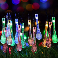 7m LED Fairy Light Solar Power 50 LED String Light Multicolor Wedding Christmas Party Decor Outdoor Lighting Garden Waterproof