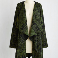Skulls Long Long Sleeve A Head of the Game Cardigan in Olive
