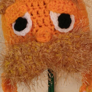 The Lorax Inspired Ear Flap Crochet Hat