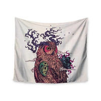 "Mat Miller ""Regrowth"" Natural Owl Wall Tapestry"