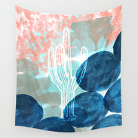 Abstract Cactus Wall Tapestry by Jenna Davis Designs