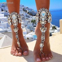 New & Sexy Ankle Bracelet  Barefoot Crystal Anklet