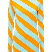 Diagonal Striped Summer Pattern Top by JW Anderson