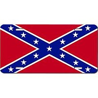 Big Stars Flag Embossed Aluminum Car Tag By Dixie Outfitters®