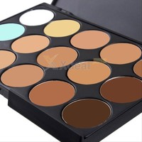 Pro 15 Colors Beauty Pro Face Cream Makeup Concealer Contour Palette Set Kits
