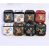 LV LOUIS VUITTON Fashion AirPods Leather Case