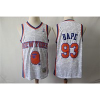 New York Knicks 93 Bape Swingman Basketball Jersey